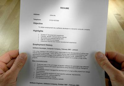 sales managers don't hire a resume
