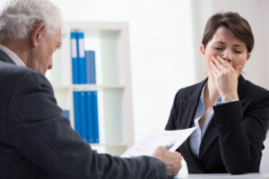 make a bad first impression to sales candidates